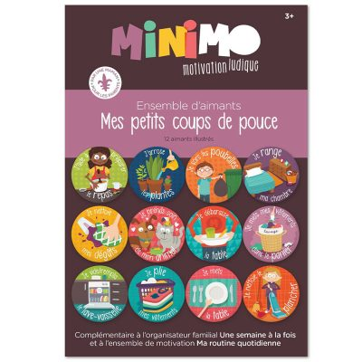 Ensemble de motivation - Mes Petits Coups de pouce - 12 aimants par Minimo Motivation