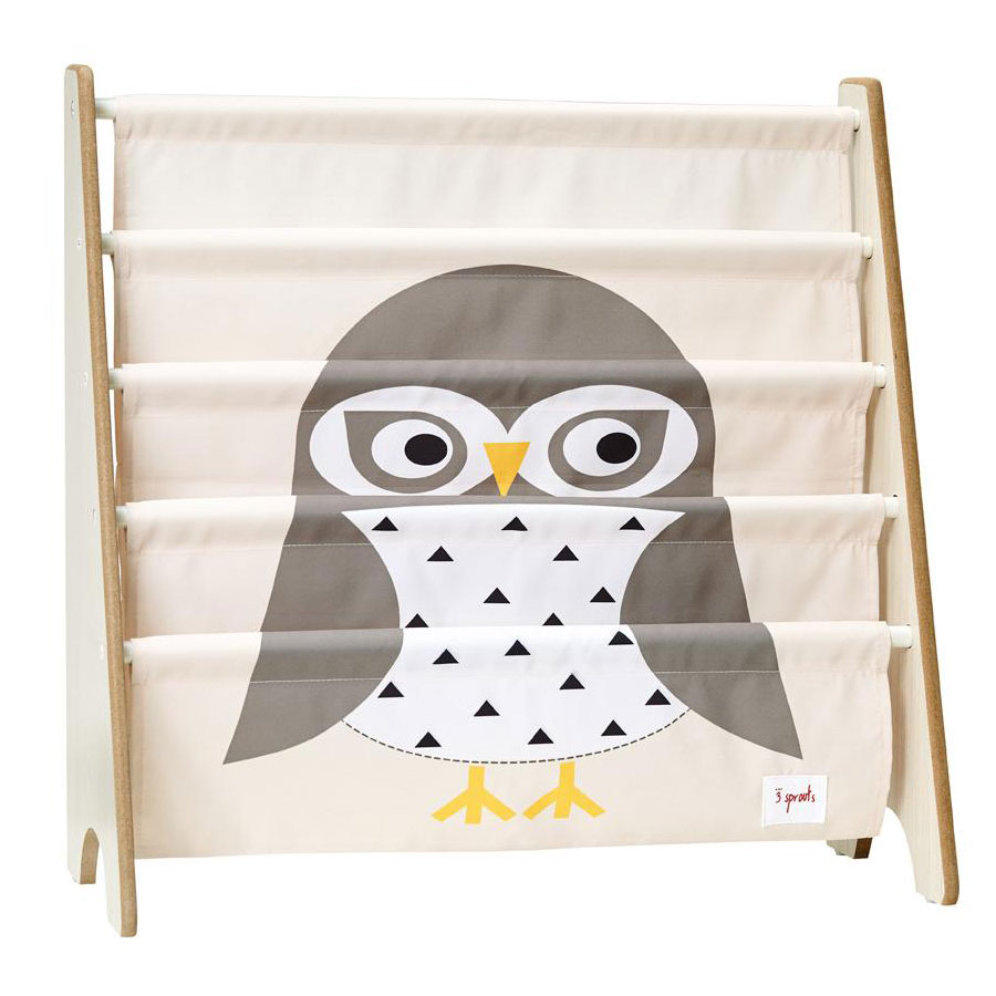 biblioth que en tissu pour enfant hibou par 3 sprouts achat en ligne. Black Bedroom Furniture Sets. Home Design Ideas