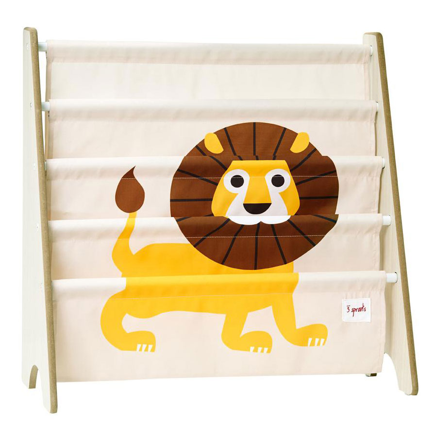 biblioth que en tissu pour enfant lion par 3 sprouts achat en ligne. Black Bedroom Furniture Sets. Home Design Ideas