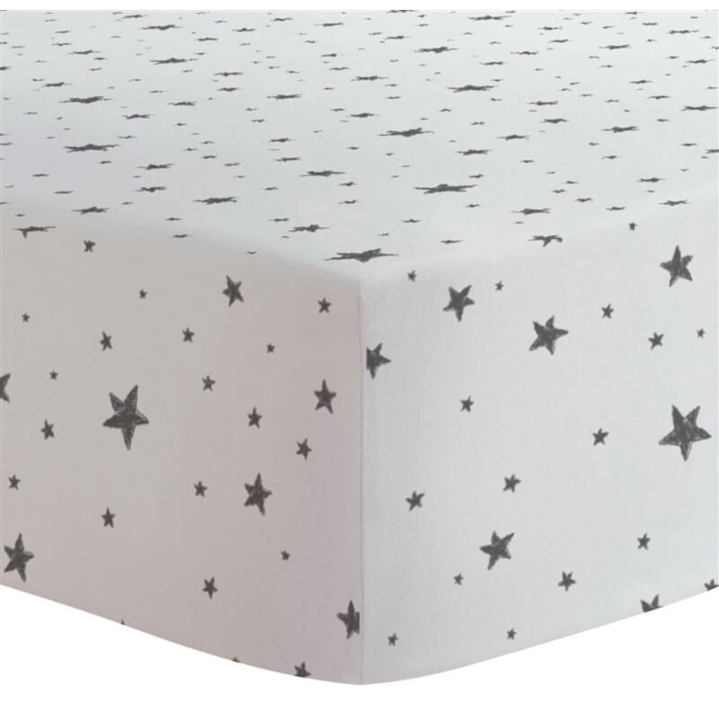 drap contour pour bassinette scribble stars 100 flanelle de coton par kushies achat en ligne. Black Bedroom Furniture Sets. Home Design Ideas