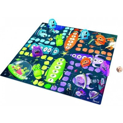 Ludo Space Monsters jeu et casse-tete par Janod